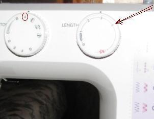 регулировка строчки для сборки ткани