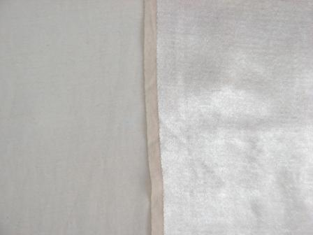 Атласная ткань на х/б основе. Лицевая и изнаночная стороны.