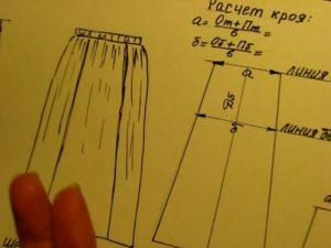 расчет выкройки юбки
