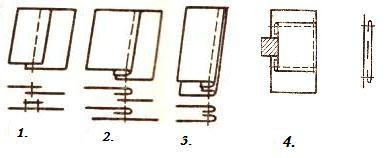 накладные швы. схемы