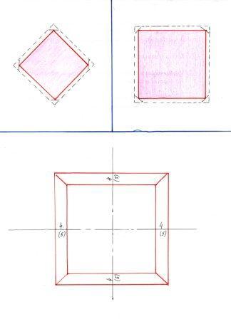 схема пододеяльника +с отверстием посередине