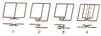 схема стачных швов