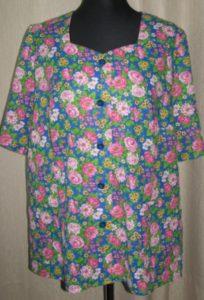 блузка +с рукавами своими руками