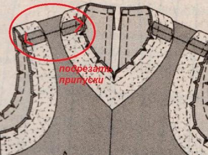 обработка горловины +и пройм обтачками