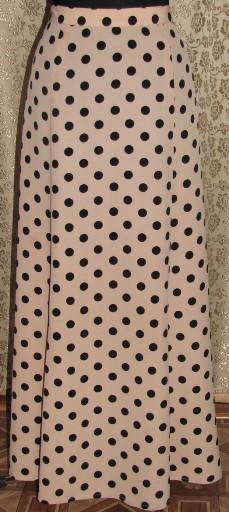 юбка с разрезом в пол