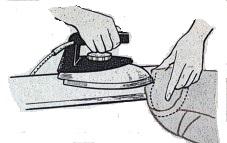 утюжка шва втачивания рукава