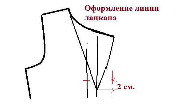 Оформление линии лацкана