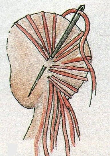 пришивание-волос