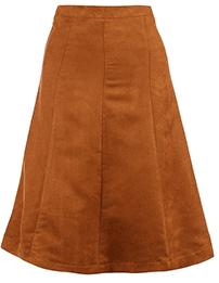 клиньевая юбка с цельнокроеным поясом